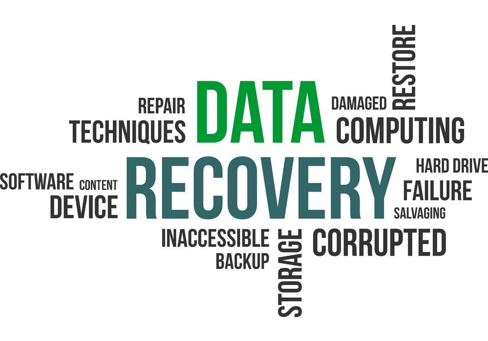 disaster and data recovery vector image